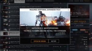 BF4 夜戦DLC「ナイト・オペレーションズ」の起動方法